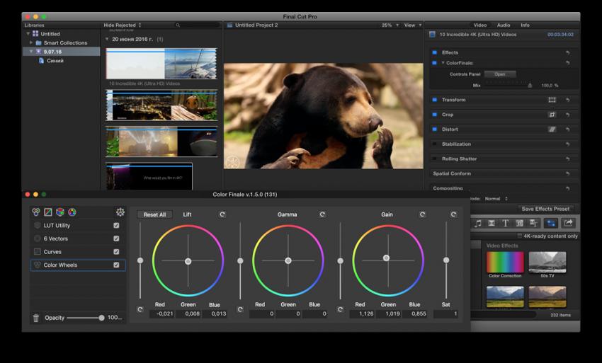 Color Finale Pro 1 8 1 – Color grade in Final Cut Pro X  | download