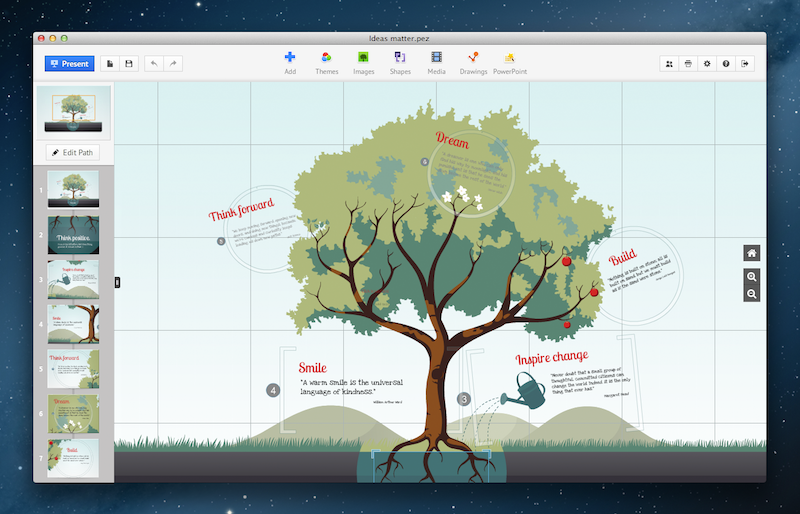 Prezi 528 create captivating presentations macos apps mac screenshots stopboris Images