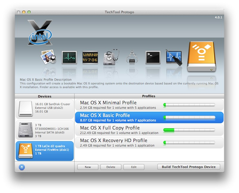 TechTool Protogo 4.0.4 – Turn your USB or Firewire device