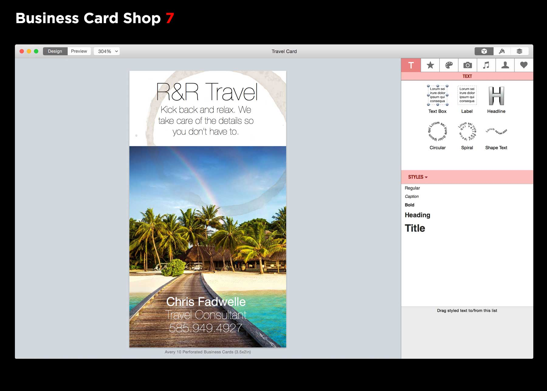 Business Card Shop 7.0.3 – Easily create original business card ...