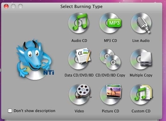 dragon burn 4 5 0 39 cd dvd burning software macos apps mac