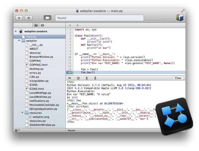 Exedore 0 8 2 - Mac-native Python IDE  download | macOS | AppKed