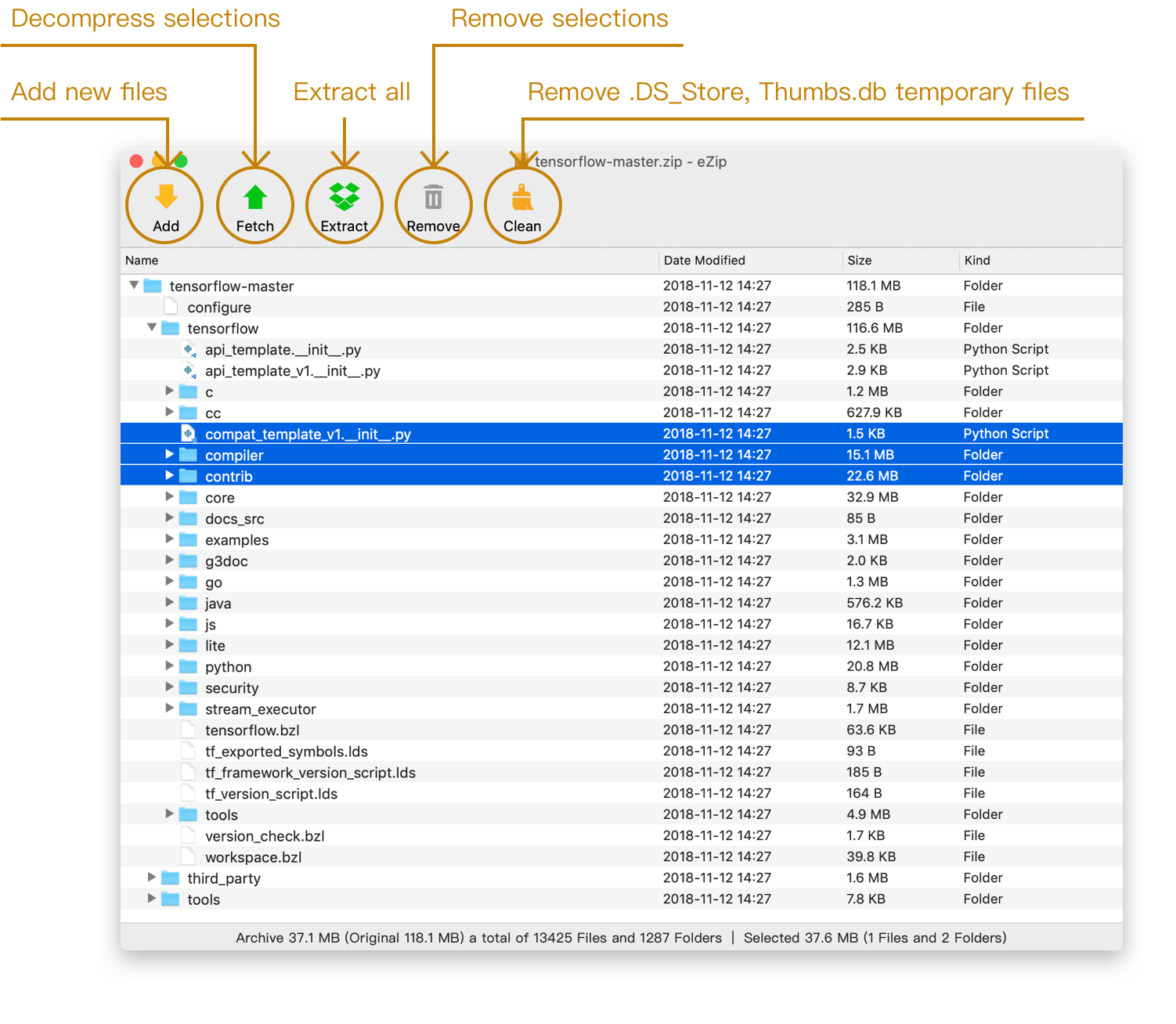 eZip 1 5 3 – Archiver with a variety of features  | download |AppKed