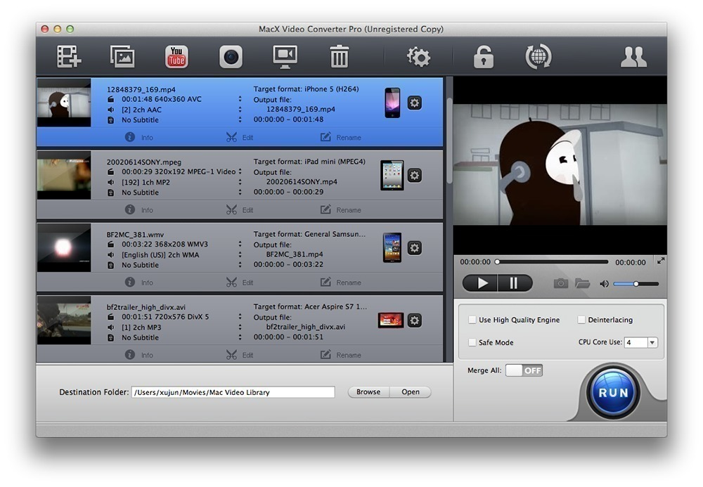 MacX Video Converter Pro 6.1.0 - High-speed converter for HD/SD videos. download  free | macOS | AppKed