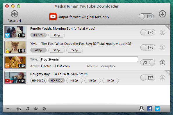Mediahuman youtube downloader 39819 video downloader macos screenshots stopboris Choice Image