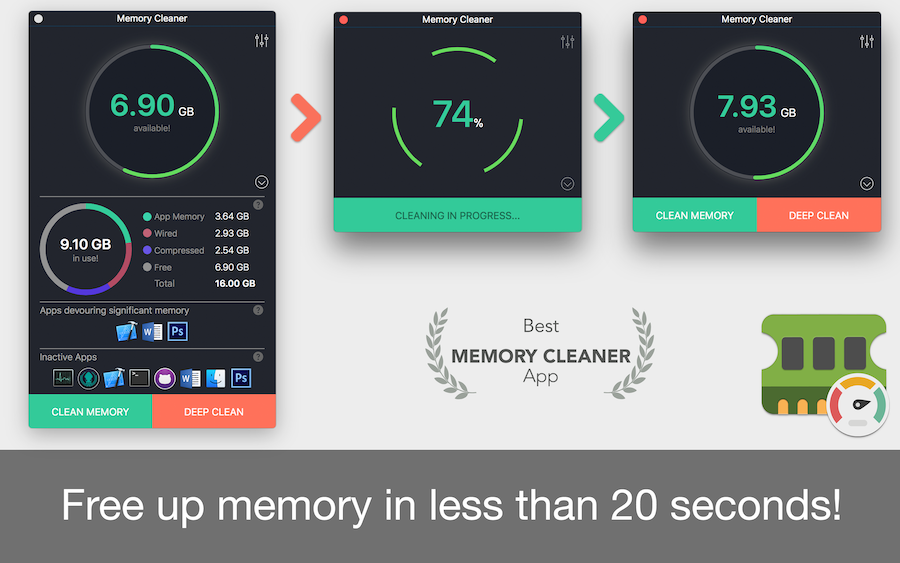 Memory Cleaner 1 4 – RAM cleaner  | macOS Apps | Mac Games