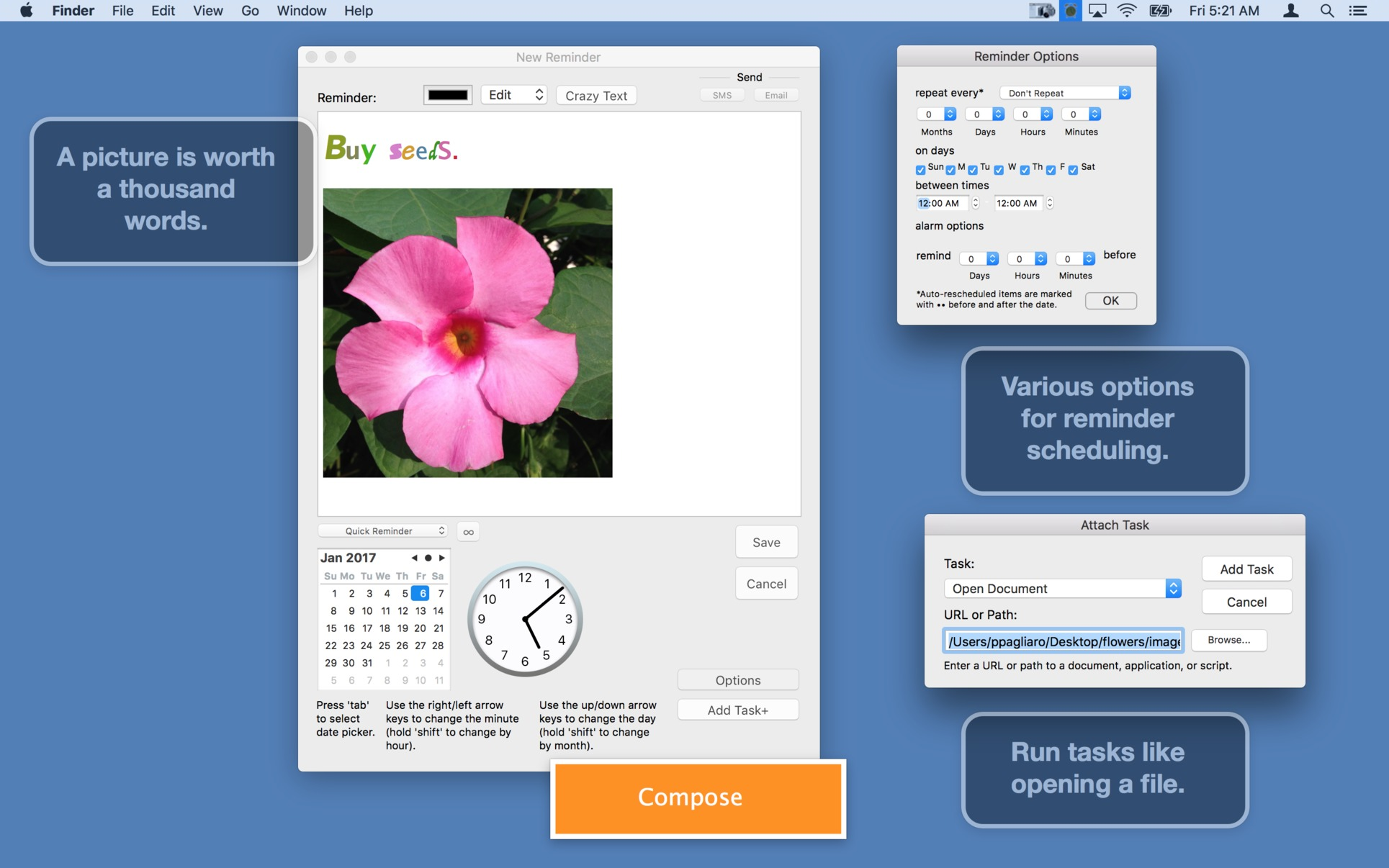 Menuminder 4 5 1 Create Reminders Right From Your
