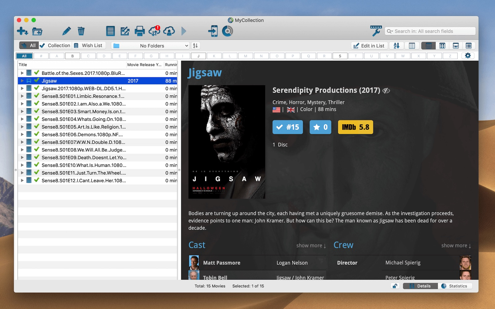Movie Collector 18 3 5 – Catalog your DVDs in a database