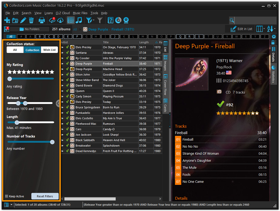 Music Collector 18 0 4 – Catalog your CDs in a database
