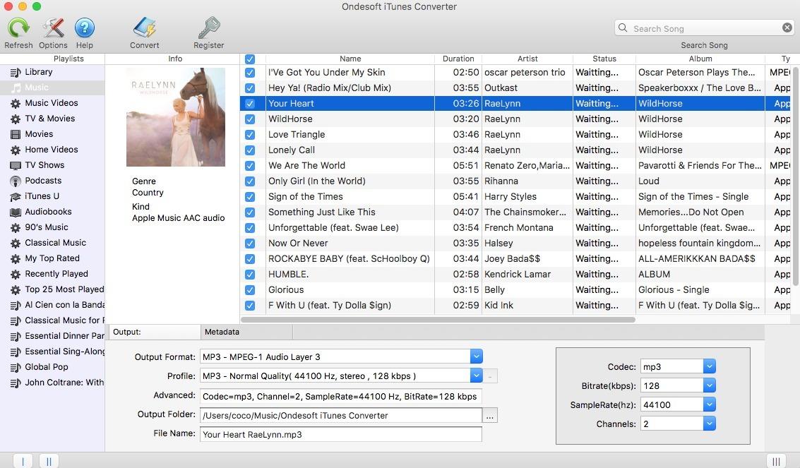 Ondesoft iTunes Converter 2 9 14 – Unlock DRM-protected music files
