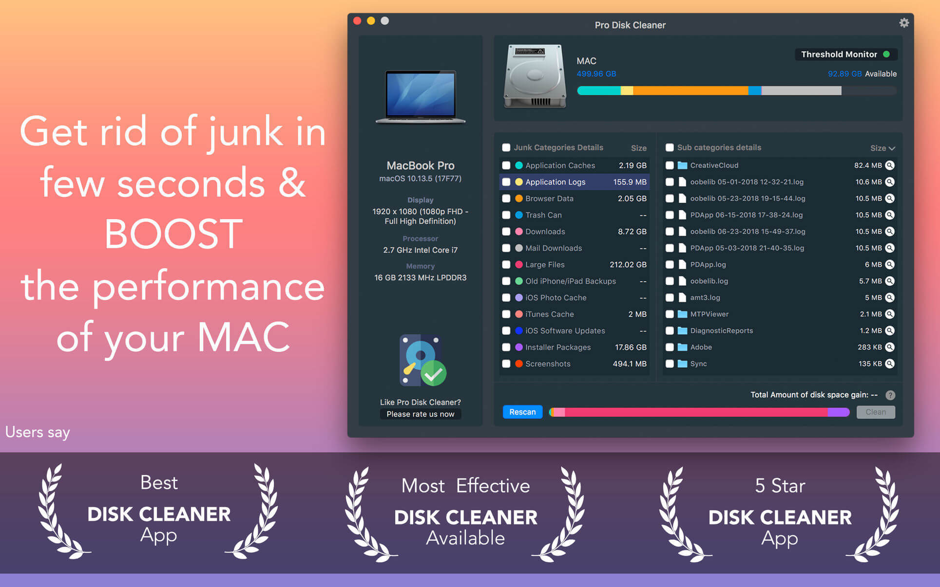 Pro Disk Cleaner 1 6 | macOS Apps | Mac Games | AppKed
