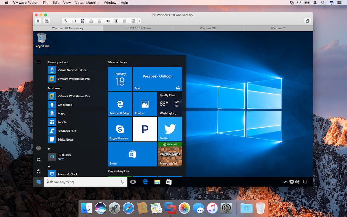 VMware Fusion 10 0 1 – Run Windows apps alongside Mac apps